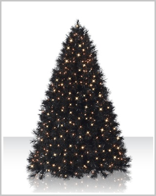 Classy Black Artificial Christmas Tree