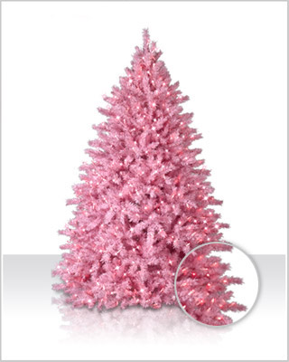 Powder Pink Artificial Christmas Tree