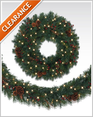Princeton Pine Wreath and Garland