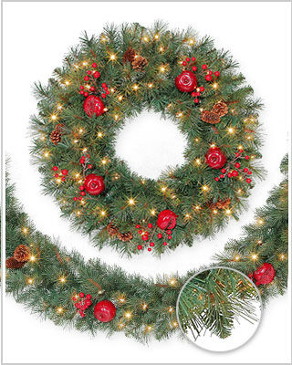 Sable Fir Wreaths and Garlands