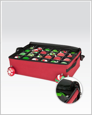 ... > Skirts & Bags > Santa's Ornament Storage Organizer with Two Trays