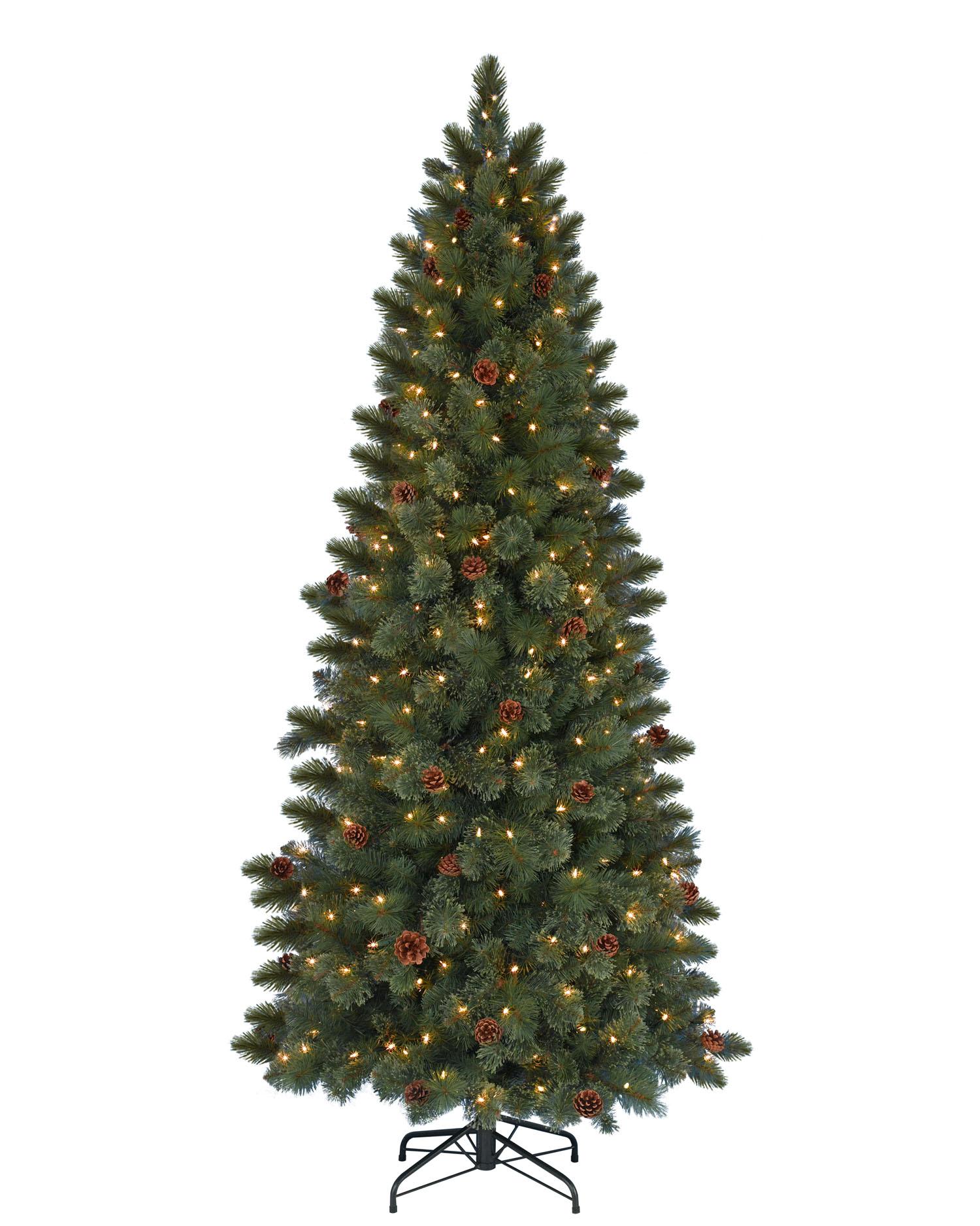 Slim Christmas Trees Prelit