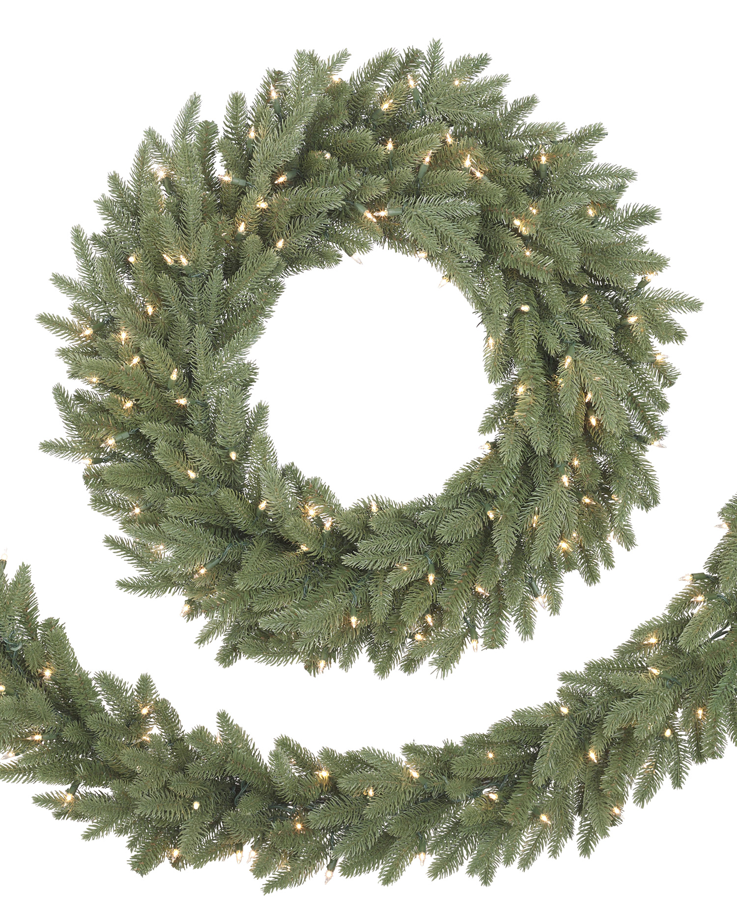 Kennedy Fir wreath and Garland