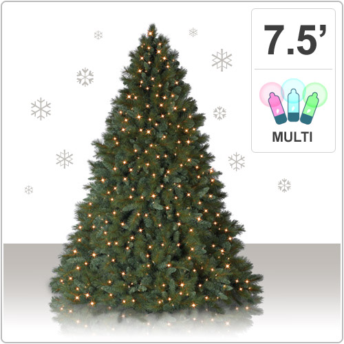 Christmas Tree Market - 7.5 Foot Virginia Pine Artificial ...