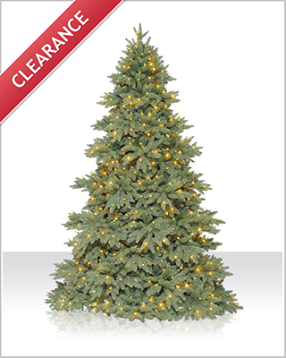 7.5 Foot Columbia Valley Fir Christmas Tree with Clear Lights