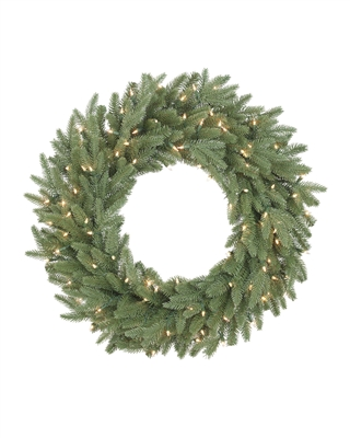 32 Inch Clear Light Kennedy Fir Wreath