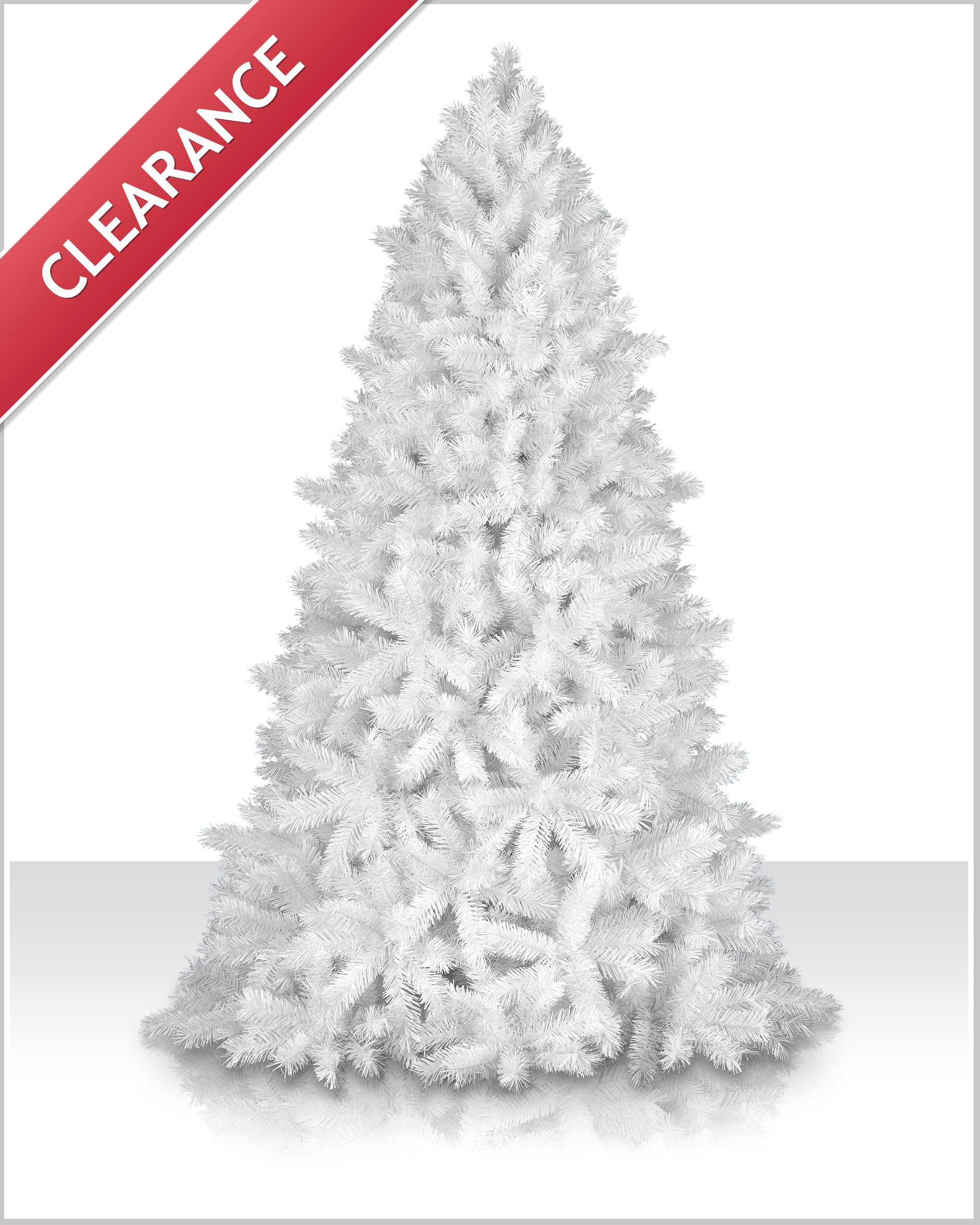 7 foot unlit shimmering white christmas tree - 4 Foot White Christmas Tree