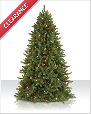 7 ft Mountain Ridge Spruce with Multi Lights