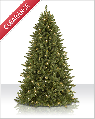 7 ft Mountain Ridge Spruce with Clear Lights