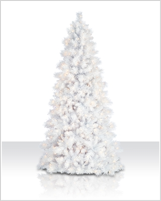 6 ft Sparkling White Tree with Clear Lights