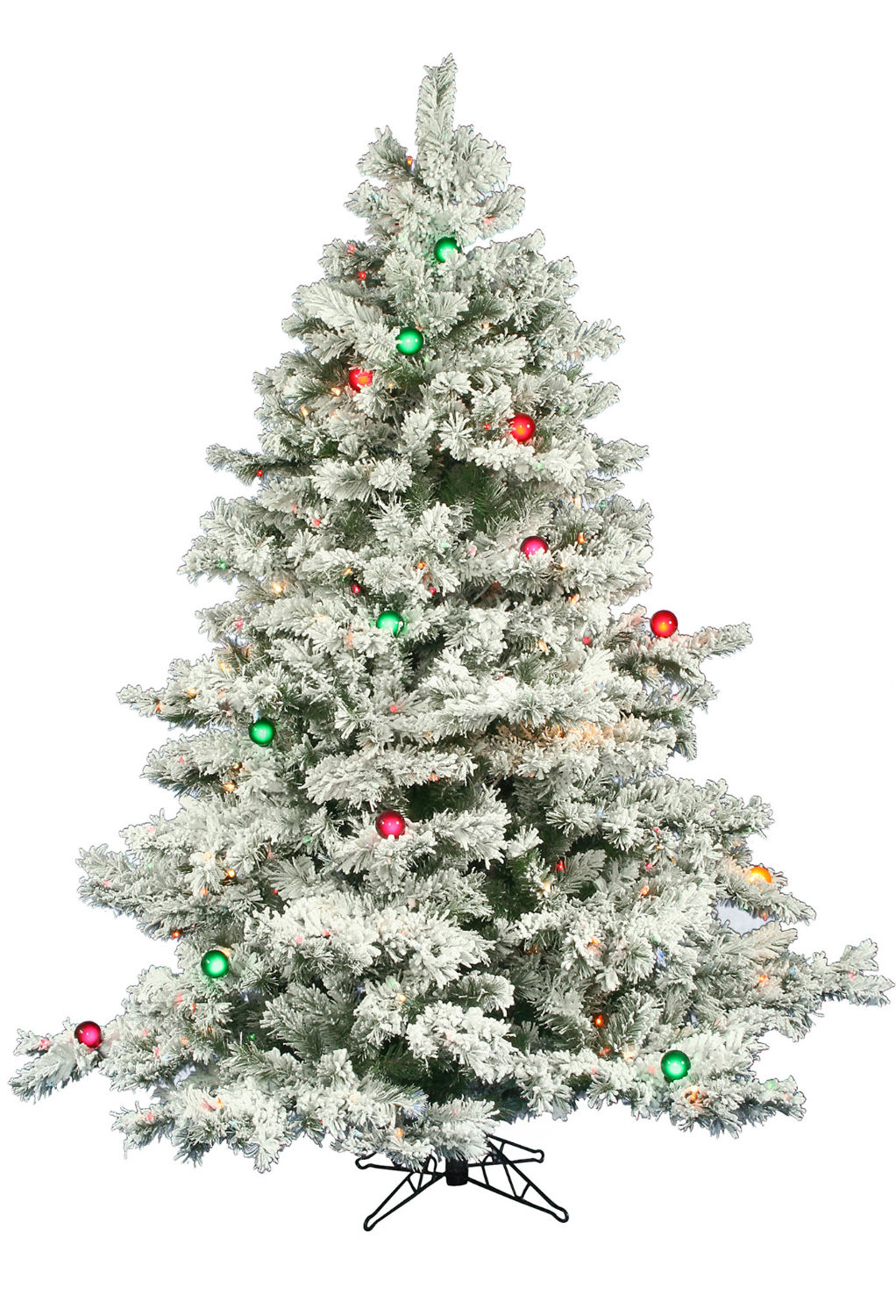 ft flocked alaskan led multi lit christmas tree christmas tree. Black Bedroom Furniture Sets. Home Design Ideas