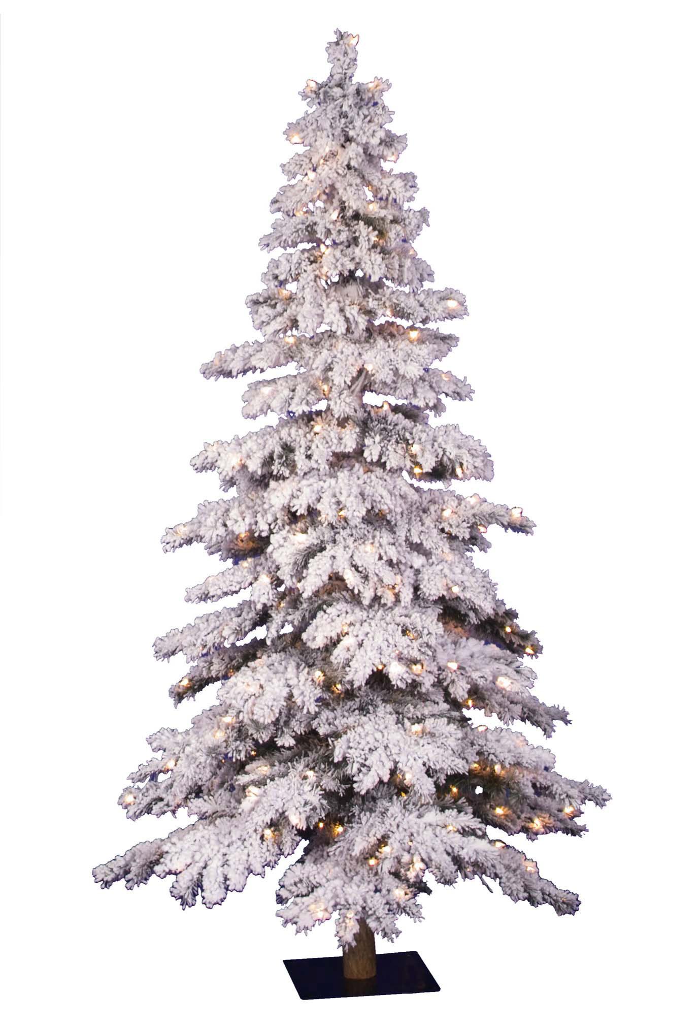 5' Flocked Spruce Prelit Christmas Tree | Christmas Tree Market