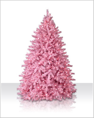 6 foot powder pink artificial christmas tree - Artificial Christmas Trees With Lights