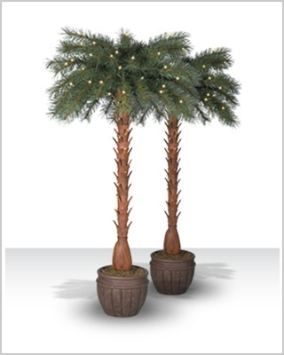 5 Foot Breezy Bay Artificial Palm Trees