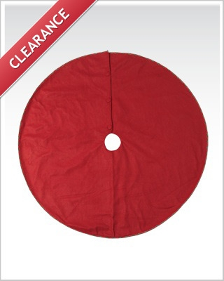 56 Inch Christmas Red Tree Skirt