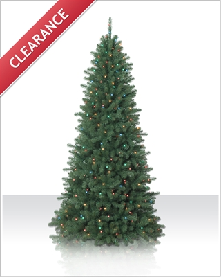 7.5 Foot Pre lit Emerald Fir Artificial Christmas Tree