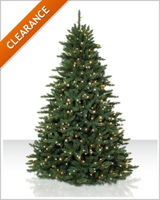 7 Foot Pre lit Eastern Spruce Artificial Christmas Tree