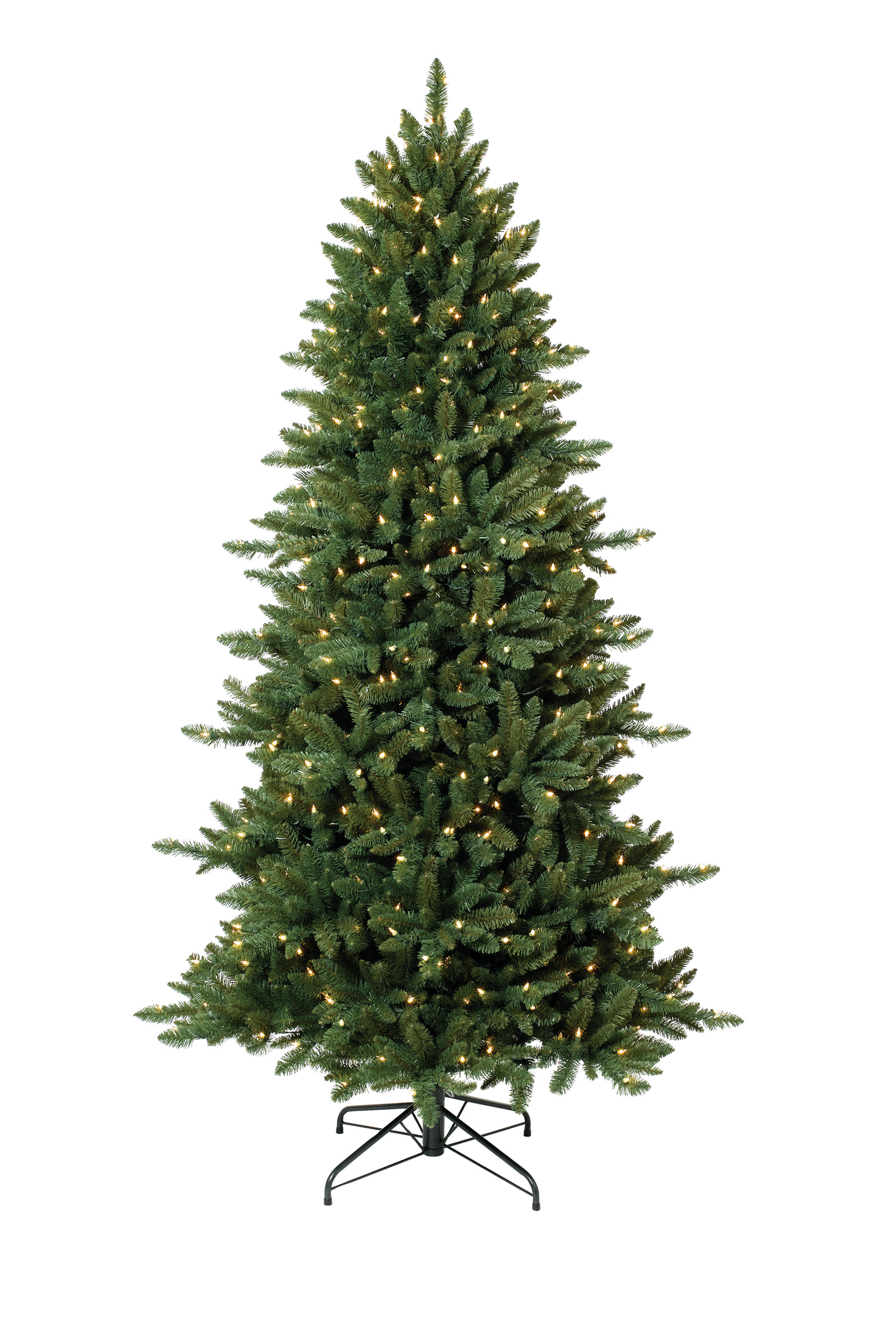 8 foot sierra slim clear christmas tree with clear lights - Christmas Tree Slim