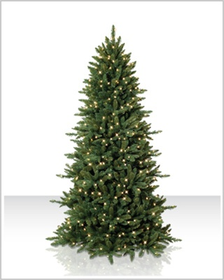 8 Foot Sierra Slim Clear Christmas Tree with Clear Lights