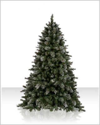 6 Foot Pre lit Misty Meadow Pine Artificial Christmas Tree