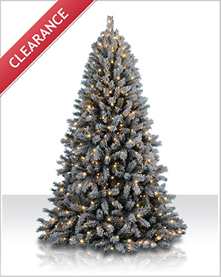 7 Foot Fairbanks Flocked Clear Christmas Tree