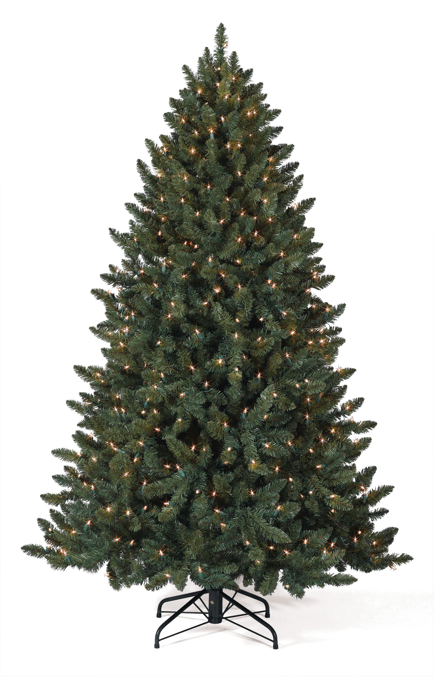 12 foot pre lit balsam spruce artificial christmas tree with colored lights - 12 Foot Christmas Tree