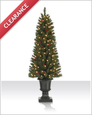 4.5 Foot Lewis Pine Clear Christmas Tree