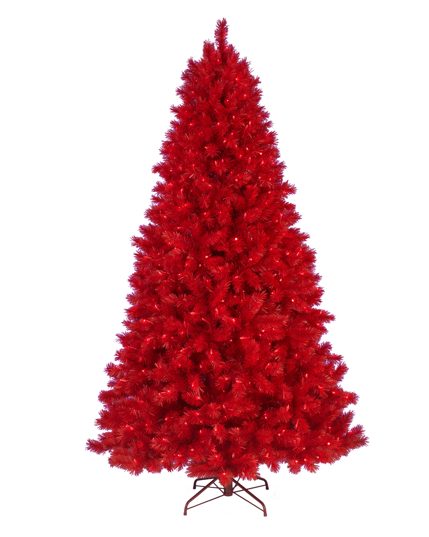 7.5 Foot Colored Ashley Red Artificial Christmas Tree