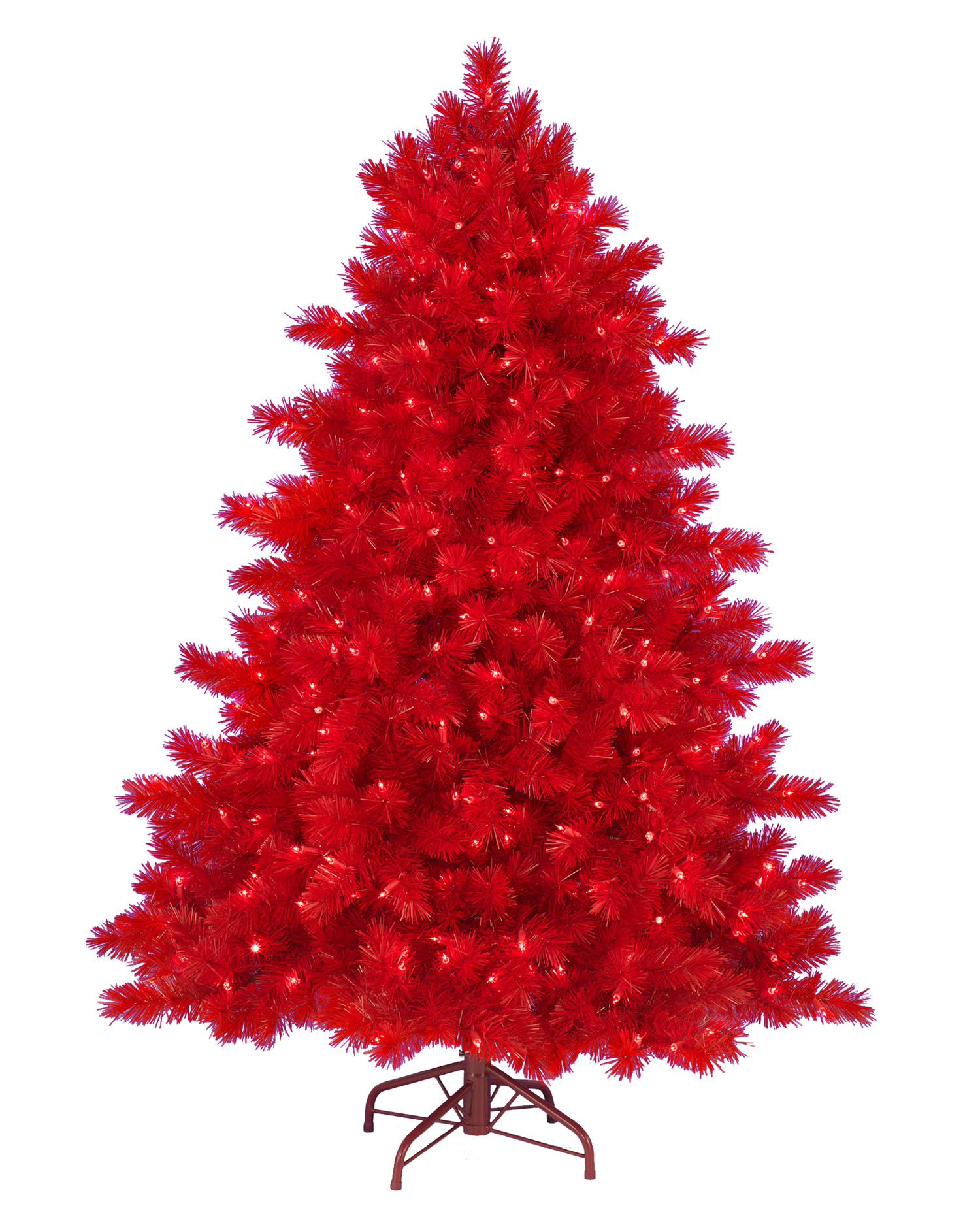 5 39 ashley red christmas tree with clear lights christmas - Sapin de noel vert et rouge ...