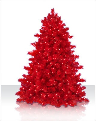 5 Foot Ashley Red Artificial Christmas Tree