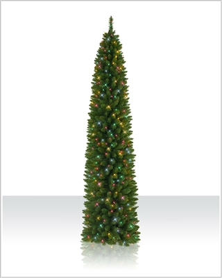 7.5' Ticonderoga Christmas Tree with  Multi Lights