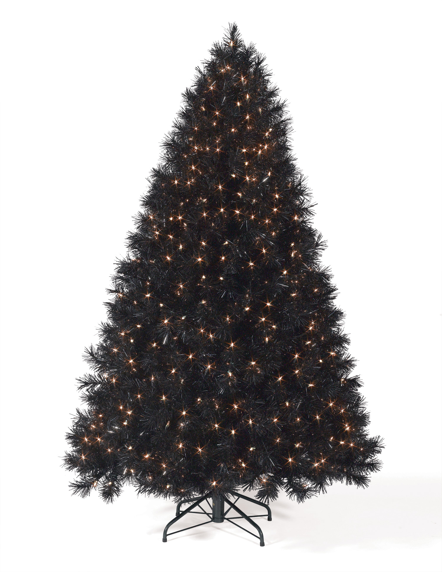9 ft Classy Black Clear Lit Christmas Tree | Christmas Tree Market