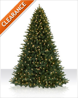 7 Foot Pre lit Jackson Fir Artificial Christmas Tree