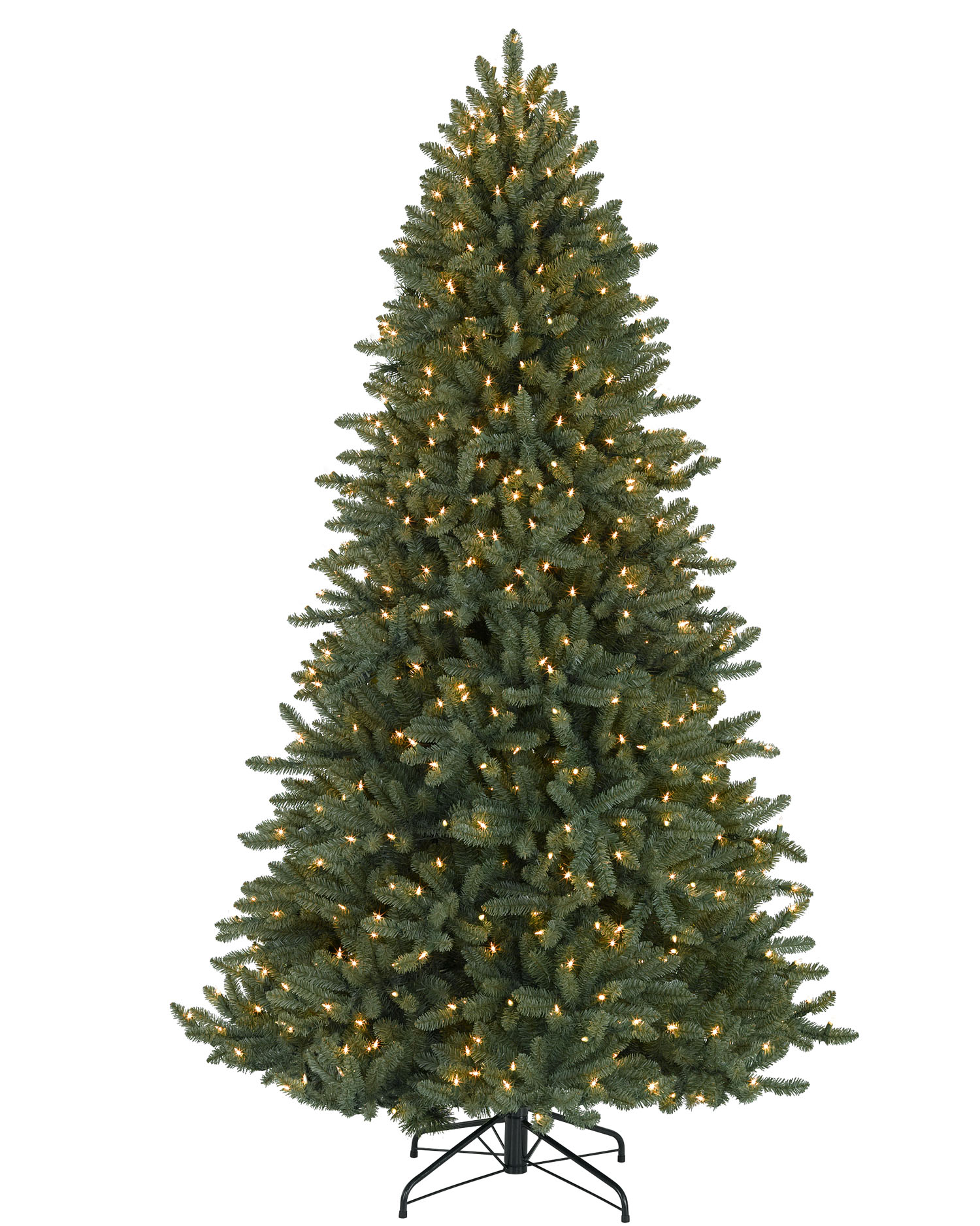 7' Colorado Blue Spruce Tree With Clear Lights Christmas Tree Market - 7 Ft Artificial Christmas Trees