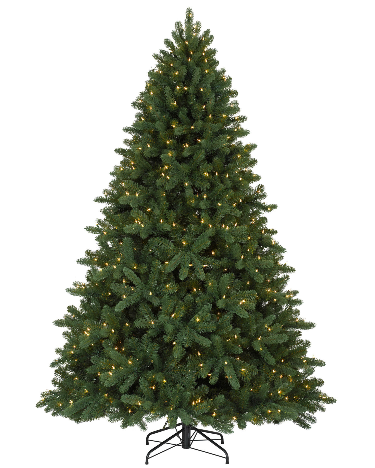 7.5 Foot Alberta Spruce Evergreen Christmas Tree (Colored Lights ...