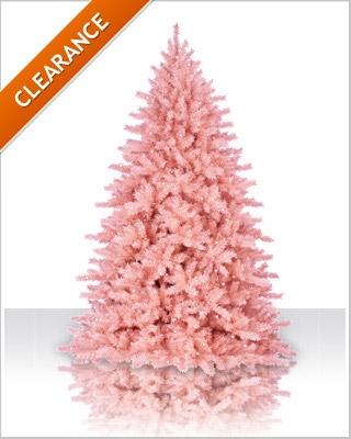 7 foot powder pink artificial christmas tree - Pink Christmas Tree Lights