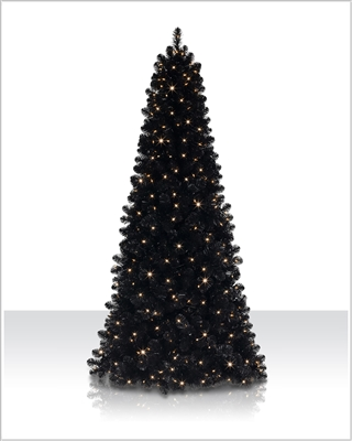 6 ft Jet Black Tree with Clear Lights