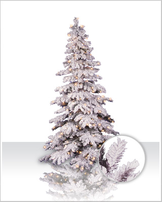 Flocked Spruce Christmas Tree