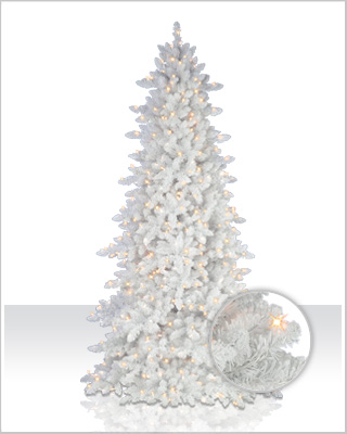 Flocked White Fir Christmas Tree