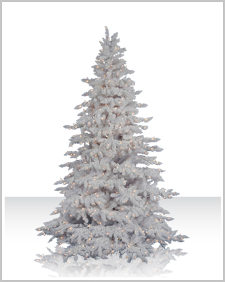 Flocked White Spruce Artificial Christmas Tree