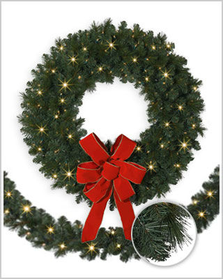Mountain Mixed Pine Wreaths and Garlands