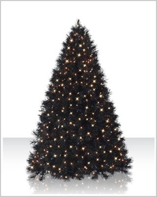 6 Foot Classy Black Clear Christmas Tree